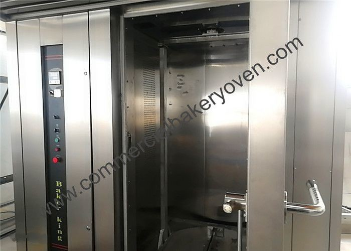 Stainless Steel Hot Air Rotary Oven , Single Door 220V Rack Bakery Oven